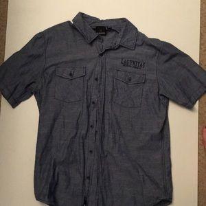Lagunitas brewery button down shirt